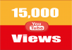 provide you high quality 15,000 YouTube Video views