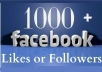provide you 2000+ permanent facebook Real Follower or status/image likes