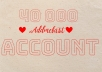 I will Give you new Addmefast Account Or Refill existing With 10 000 Point it is the best and cheapest addmefast services