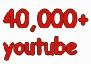 In this gig I'll provide you 40,000 Real YouTube views for 20$. A Service To Improve The Popularity Of Your YouTube Videos and Increase Your Site/Blog Visitors....Videos with more Views often show up in Google search results. Also this helps you get found more often on YouTube Top Search Results.  Order now and get huge views on your video!!!