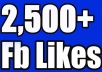 Features:    Get 2500+ Facebook Likes. 100% Real Fanpage Likes. 100% Safe & Secure. Permanent Fanpage Likes. High Quality Fanpage. Guaranteed Non Drop. Increase Page Ranking or Popularity. 24/7 Customer Support. Friendly Service.