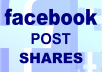 Add 100+ real human shares to any Facebook post.