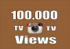 I will Provide you Real 100,000+ Instagram TV OR Video Views 100% Safely. What it's this service's features? ✔ No password required 