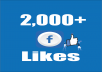 Provide you Instant Fast 2,000 Facebook Photo,Post Likes 100% safely.