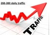 provide 250 to 300 daily Worldwide traffic for one month