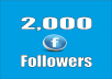 provide real 2,000 Facebook Profile Followers