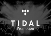add your music to our Tidal playlist for 1 month