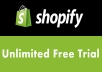 Provide A Never Ending Shopify Trial Account