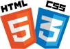 design your website using html and css code