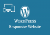 Create Wordpress Website Design, Build Website