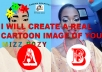 I will create a real cartoon image of yourself in just minutes, send your image and wait for the magic