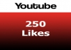 give you 250 Youtube video likes high quality permanent guarantee