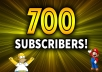 Give Non Drop 700+ High Quality Youtube Subs Fully Safe