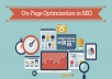 do on page SEO for one page with bonous strategy 2018