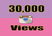 Give you Real Fast 30,000+ Instagram Video Views