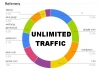 drive unlimited TRAFFIC to your website or link with  live Statistics Analytics
