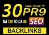 Provide Manually Do 30 Pr9 DA 80+ Safe SEO High Authority Backlinks