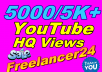 Add 5000/5k+ HR YouTube Views  High Quality Permanently