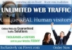 Give you unlimited USA Real/Human/Unique Visitors safely.