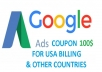 give Adwords coupon for USA