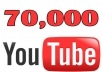 Give You High Quality 70,000+YOU TUBE views