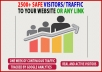 Send 2500+ Safe Traffic/Visitors to your website Or Link
