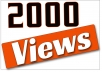 Add 2000 High Quality Youtube Video Views