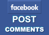 Provide 50+ Facebook Auto Comments to your post, pic or video