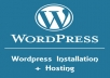 host & install a Wordpress website (+ Free SSL)