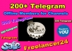 Give you 200+ Telegram Offline Members for Channels