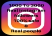 Add 1000 Real Instagram followers to your account safe 100% in 1 day