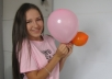 pop or blow up ballons at video