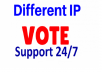 Provide 100 Different IP Vote