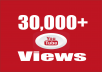 provide you high quality 30,000+ YouTube Video views