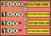 DO 2000+ YOUTUBE VIEW + 1000+ YOUTUBE FACEBOOK REFFERED VIDEO SHARE + 100+ YOUTUBE VIDEO LIKE + 100+ YOUTUBE COMMENT only for 5$