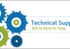 provide technical support for your issues.