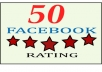 GET 50  five star rating and review on your  page