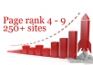 I will give you more than 250 PR 4 to 9 sites list to make thousands of free backlinks every day for $5