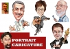 Draw A Portrait Style Caricature From Photo