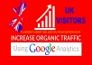 SEND 30 DAYS DAILY UK KEYWORD TARGETED ORGANIC TRAFFIC