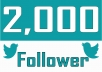 Add 2,000 Twitter Followers