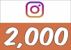 Add 2,000 Instagram (Guranteed) Followers