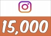 Add 15,000 Instagram (Guaranteed) Followers