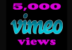 Provide 5000 Vimeo Views in under 24 hours