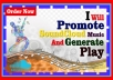 Professionally Promote SoundCloud Music Generate play