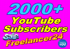 Hello guys, I'm a professional YouTube expert I have more experience this field I'm completed more order in this marketplace, so if you need genuine 500+ YouTube subscribers permanent so please any time you can inbox me, I'm Freelancer24.   Quality of my YouTube subscribers  :  01. 100% genuine  & actually  YouTube subscribe. 02. faster delivery before the deadline. 03. Stay lifetime in your subscribers. 04. Best available. 05. Works procedure 100%. 06. quickly and professional service. 07. extra bonus YouTube Subscribe. 08. cheaper offer for you. 09. Time support save. 10. actually safe. 11. genuine profit. 12. 100% money back guarantee.