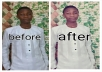 Photoshop your pictures in a well matured way and also with your logo and complimentary card