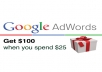 Provide you 100 USD google adwords Coupon USA