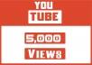 Hey, We will send 5000 Youtube Views. Our Views Never Delete Or Drop Any Videos ( Money back guarantee )  High Quality Views Come Facebook , Twitter Etc.. NEVER get your video banned from YouTube 100 % Safe Views Long Watch Time NO Bot No Proxy 100% real and permanent Active Youtube Views  Non-Drop Views