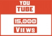 EXPECTED DELIVERY 3 DAYS Hey, We will send 15000 Youtube Views. Our Views Never Delete Or Drop Any Videos ( Money back guarantee )  High Quality Views Come Facebook , Twitter Etc.. NEVER get your video banned from YouTube 100 % Safe Views Long Watch Time NO Bot No Proxy 100% real and permanent Active Youtube Views  Non-Drop Views